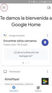 App Google Home y Altavoz Google
