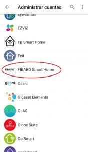 Agregar Fibaro a Google Home