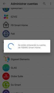 Proceso de vinculación Fibaro y Google Home